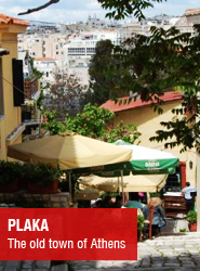 Plaka - the old town of Athens