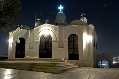 "The ""Agios Giorgis"" Church at the top of Lycabettus Hill"