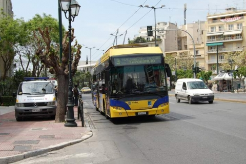 Trolley bus at Mesogeion Avenue