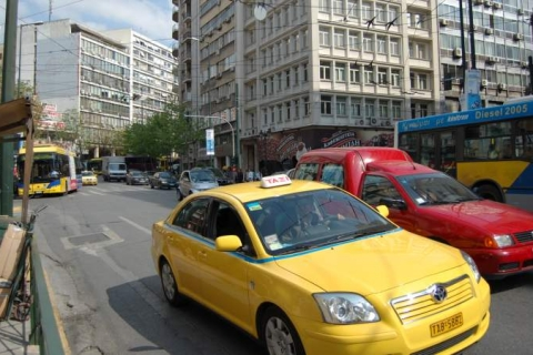 Taxi at Eleftherios Venizelos Avenue