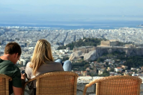 Enjoy the view from the top of the Lycabettus Hill