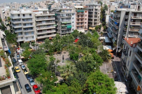 Upper view of the Exarcheia Square