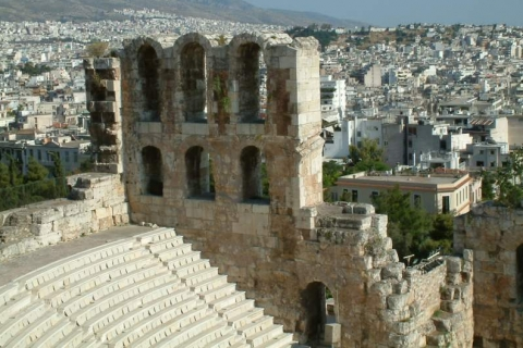 Odeon of Herodes Atticus with the city of Athens