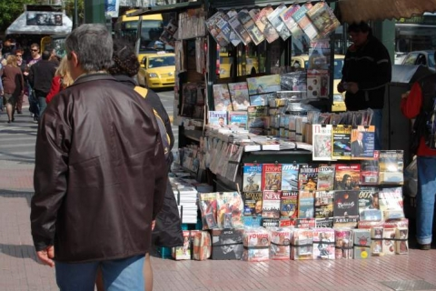 News stand at Eleftherios Venizelos Avenue