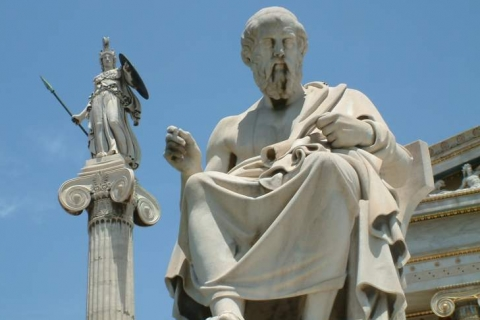 Statues of Socrates and Athina