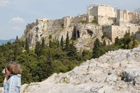 The Acropolis hill from Areopagus