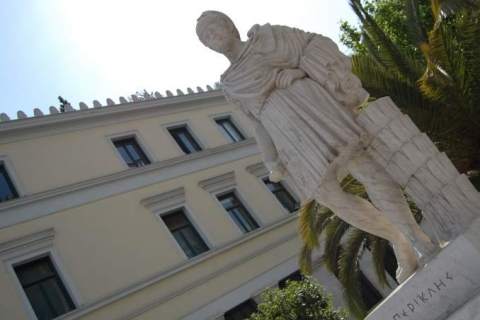 Pericles statue at Athens Town Hall